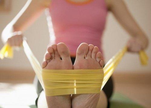 Banda elástica para empujar con los pies